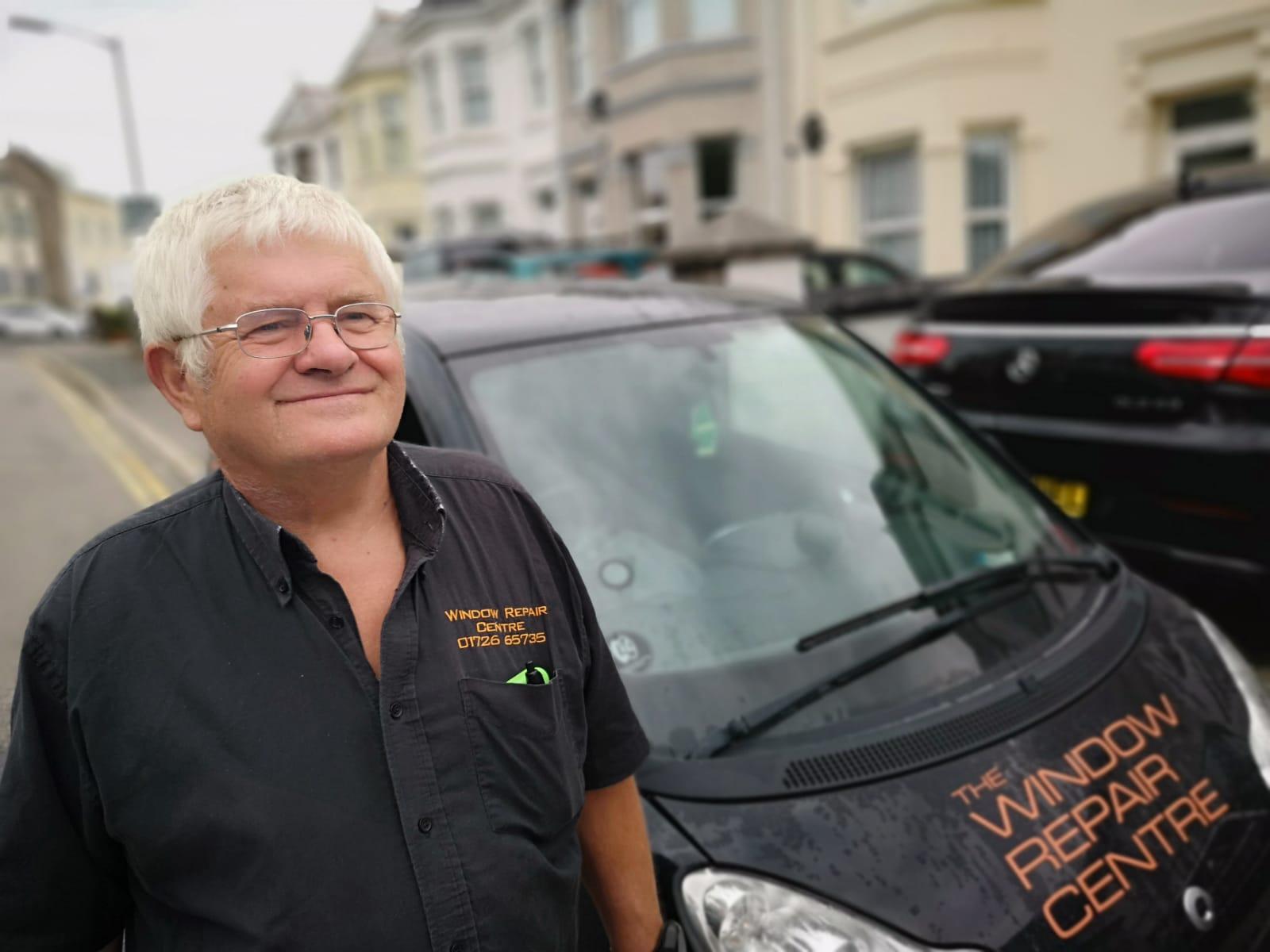 Freddie at the Window Repair Centre Cornwall